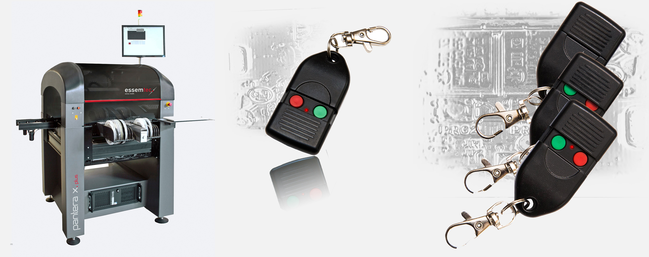 2 CHANNEL KEY FOB TRANSMITTER WITH PUSH OUT/PUSH IN BUTTONS PROTECTIVE COVER