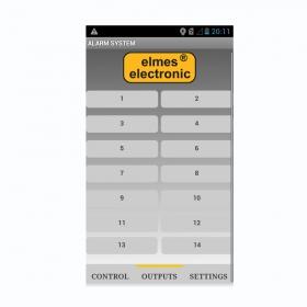 Aplikacja Elmes Elektronik do obsługi centrali na telefon z systemem android.